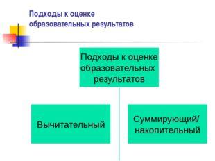 Подходы к оценке образовательных результатов