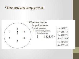 Числовая карусель