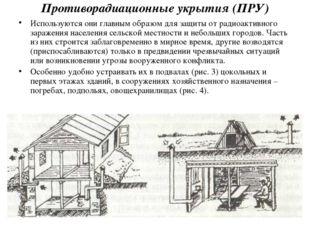 Противорадиационные укрытия (ПРУ) Используются они главным образом для защиты