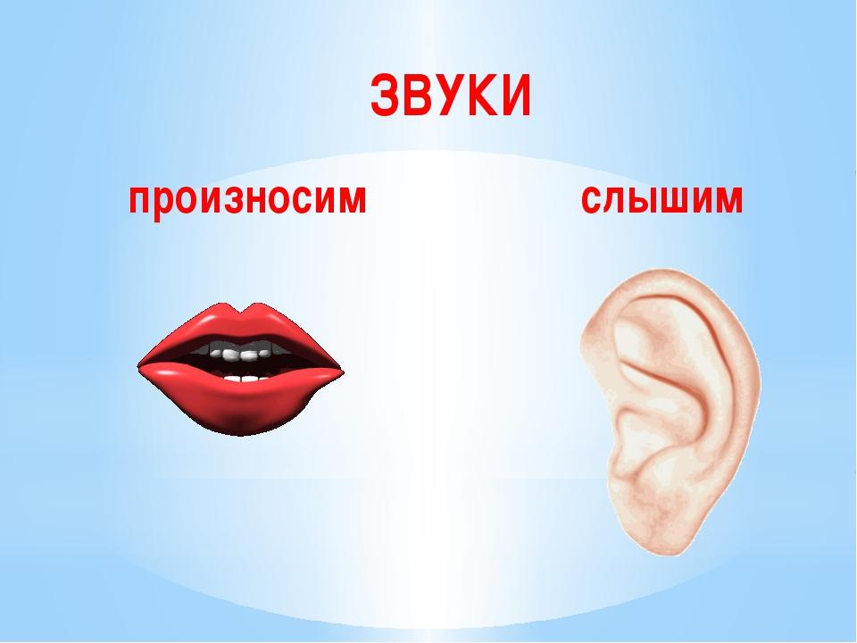 ЗВУКИ слышим произносим