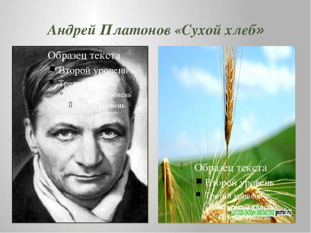 Андрей Платонов «Сухой хлеб»