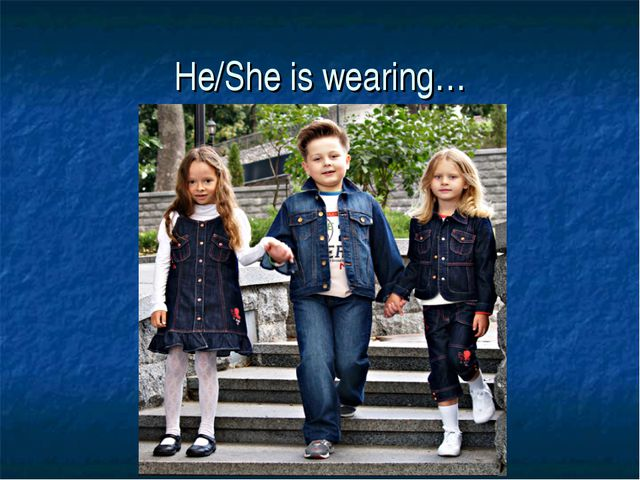 He/She is wearing…