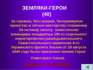 ЗЕМЛЯКИ-ГЕРОИ (40) За героизм, бесстрашие, беспримерное мужество и лётное мас