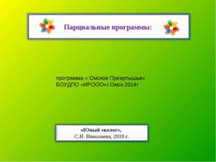 программа « Омское Прииртышье» БОУДПО «ИРООО»г.Омск 2014г