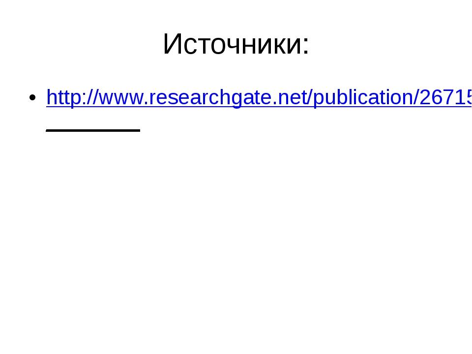 Источники: http://www.researchgate.net/publication/267154299________