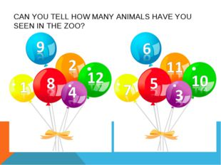 CAN YOU TELL HOW MANY ANIMALS HAVE YOU SEEN IN THE ZOO?