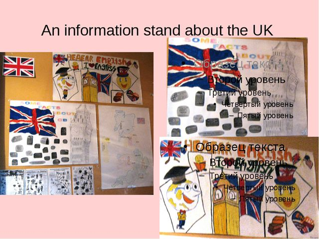 An information stand about the UK