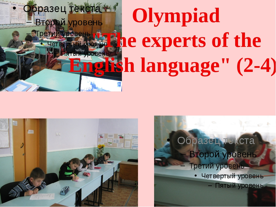 """Olympiad """"The experts of the English language"""" (2-4)"""