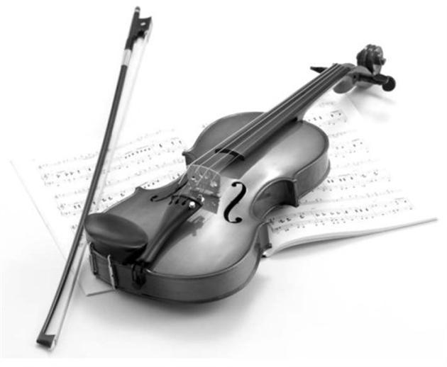 Музыкальную тему на скрипка - Шаблон Prezentacii.com