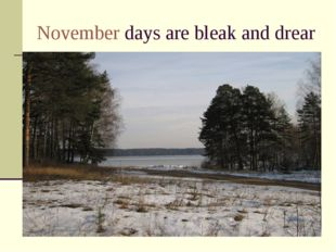 November days are bleak and drear