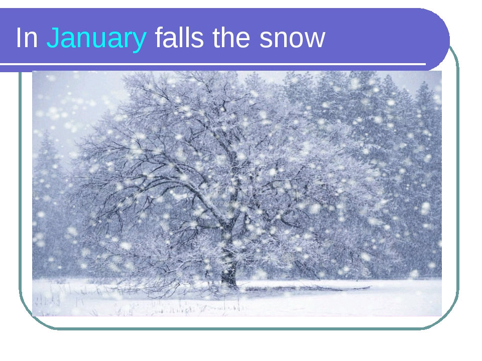 In January falls the snow