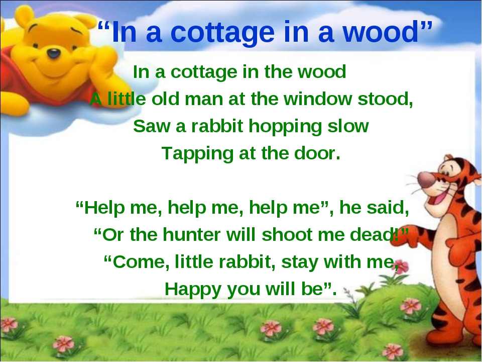"""""""In a cottage in a wood"""" In a cottage in the wood A little old man at the wi..."""