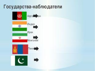 Государства-наблюдатели  Афганистан Индия  Иран