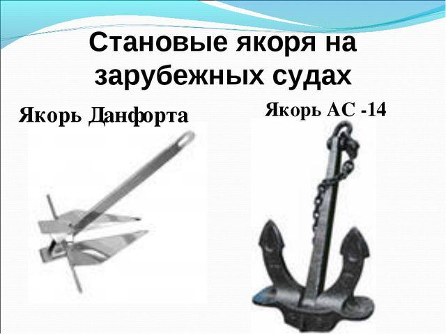 Становые якоря на зарубежных судах Якорь Данфорта Якорь АС -14