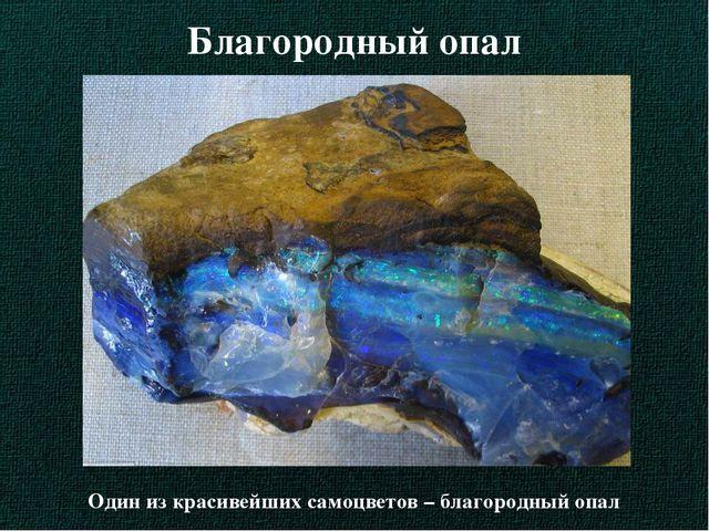 Благородный опал Один из красивейших самоцветов – благородный опал