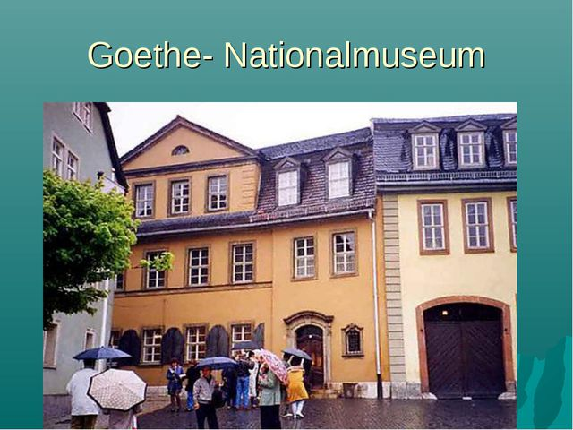 Goethe- Nationalmuseum