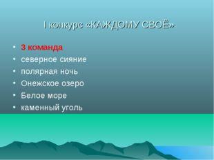 I конкурс «КАЖДОМУ СВОЁ» 3 команда северное сияние полярная ночь Онежское озе
