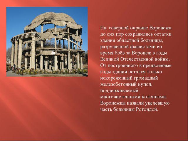 На северной окраине Воронежа до сих пор сохранились остатки здания областной...