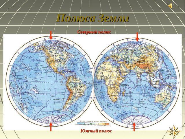 Полюса Земли Северный полюс Южный полюс