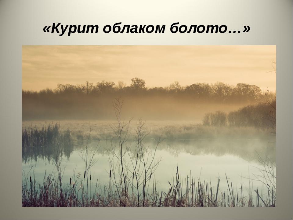 «Курит облаком болото…»