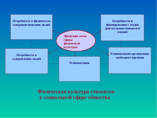 Физическая культура относится к социальной сфере общества