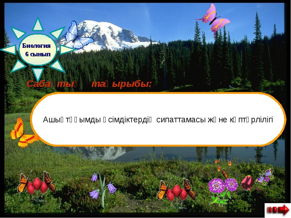 Сабақтың тақырыбы: Ашықтұқымды өсімдіктердің сипаттамасы және көптүрлілігі Б...