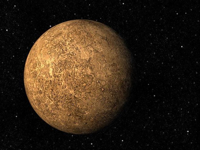 Планета Меркурий уменьшается из-за холода