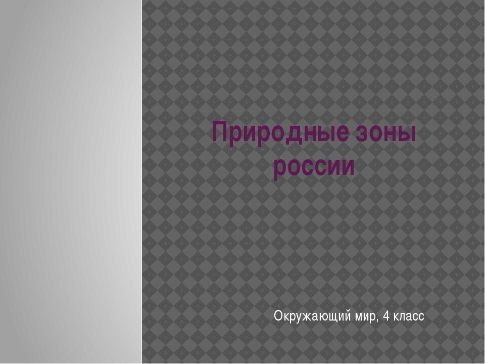 Природные зоны россии Окружающий мир, 4 класс