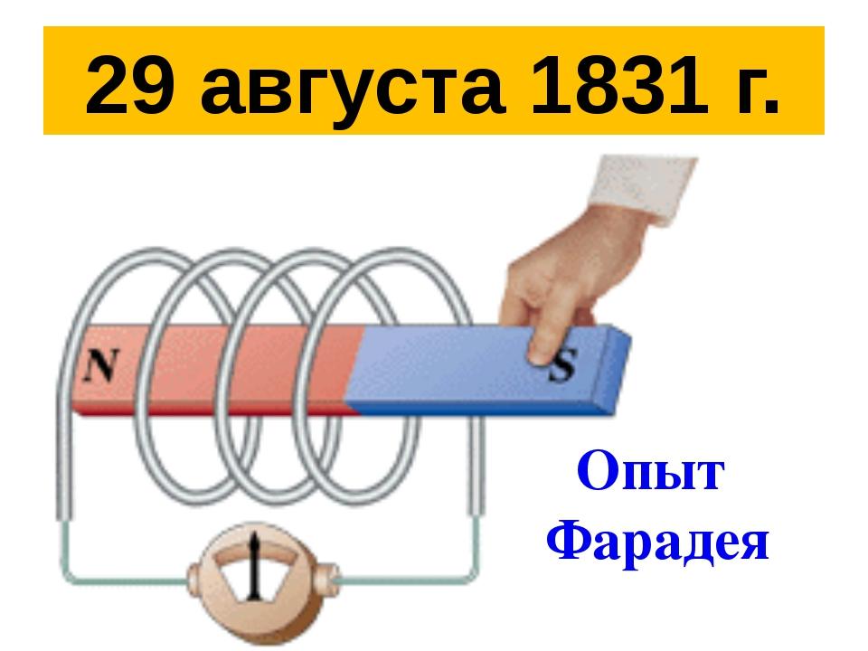 29 августа 1831 г. Опыт Фарадея