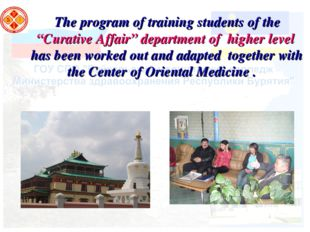 "The program of training students of the ""Curative Affair"" department of highe"