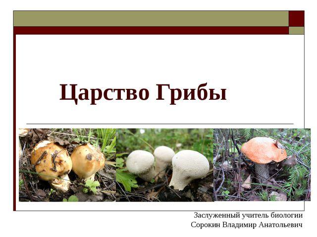 Царство Грибы Заслуженный учитель биологии Сорокин Владимир Анатольевич