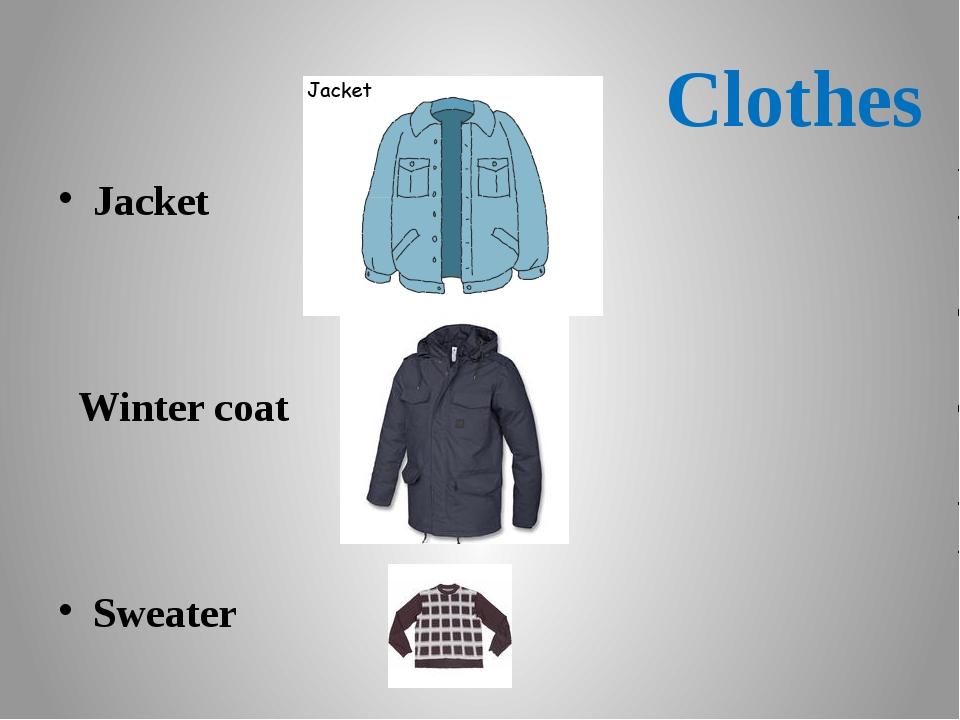Сlothes Jacket Winter coat Sweater