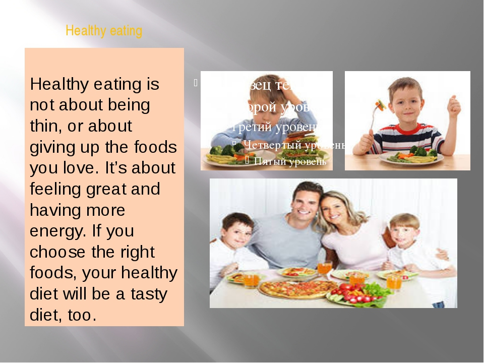 Healthy eating Healthy eating is not about being thin, or about giving up the...