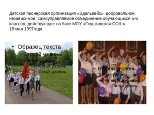 Детская пионерская организация «Эдельвейс» добровольное, независимое, самоупр
