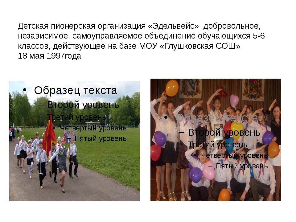 Детская пионерская организация «Эдельвейс» добровольное, независимое, самоупр...