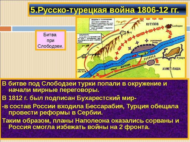 В битве под Слободзеи турки попали в окружение и начали мирные переговоры. В...