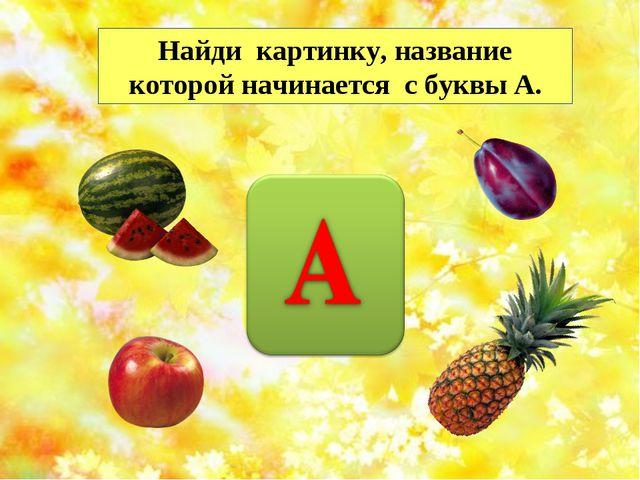 Найди картинку, название которой начинается с буквы А. http://musafirova.ucoz...