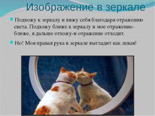 Изображение в зеркале Подхожу к зеркалу и вижу себя благодаря отражению свет