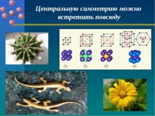 Центральную симметрию можно встретить повсюду