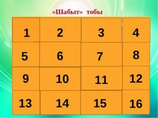 «Шабыт» тобы 1 2 3 4 5 6 7 8 9 10 11 12 13 14 15 16