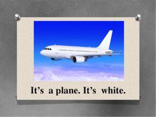 It's a plane. It's white.