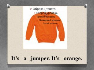 It's a jumper. It's orange.