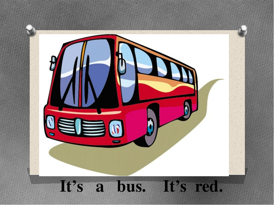 It's a bus. It's red.