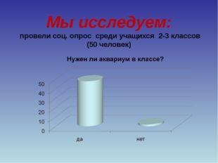 Мы исследуем: провели соц. опрос среди учащихся 2-3 классов (50 человек)