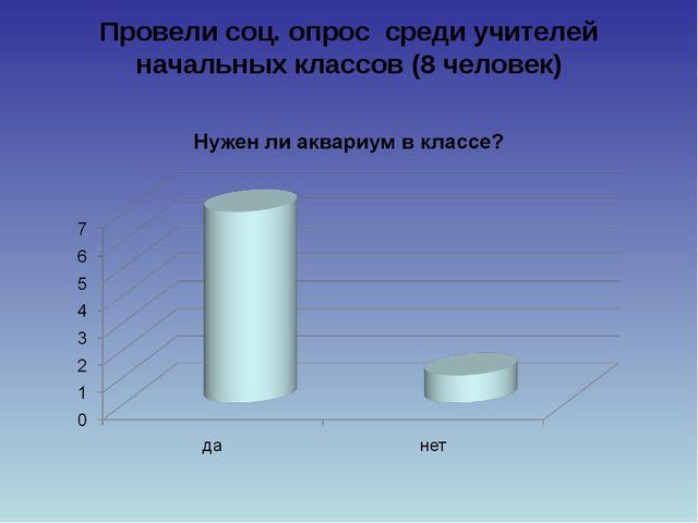 Провели соц. опрос среди учителей начальных классов (8 человек)