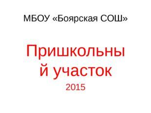 МБОУ «Боярская СОШ» Пришкольный участок 2015