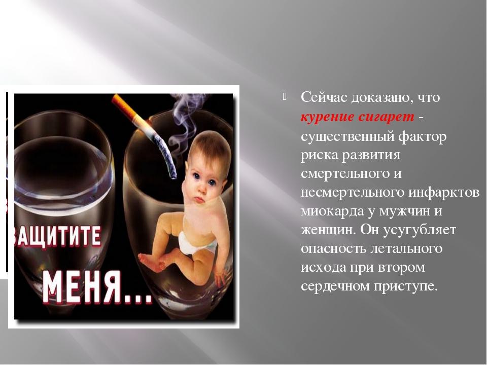 Сейчас доказано, что курение сигарет - существенный фактор риска развития сме...