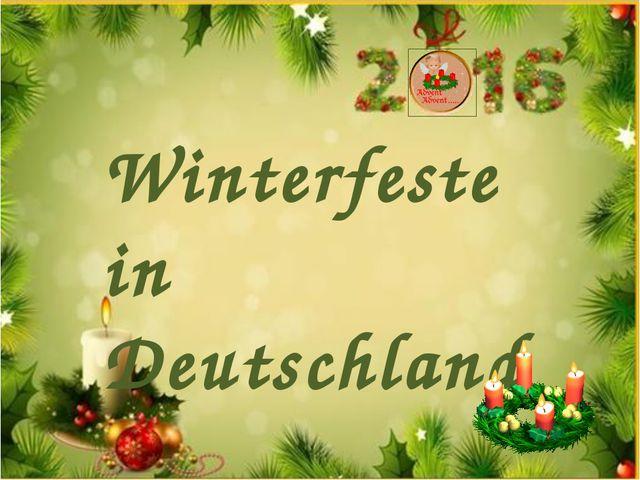 Winterfeste in Deutschland