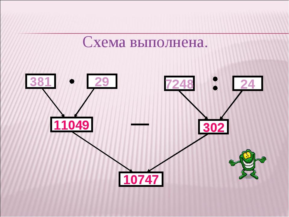381 11049 29 7248 24 302 10747 Схема выполнена.