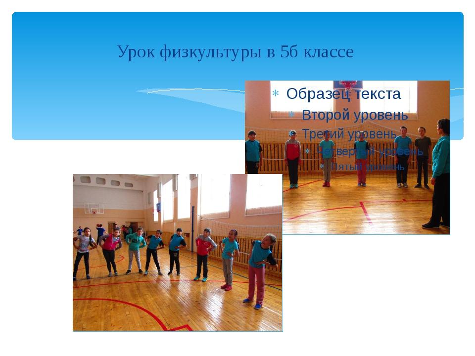 Урок физкультуры в 5б классе
